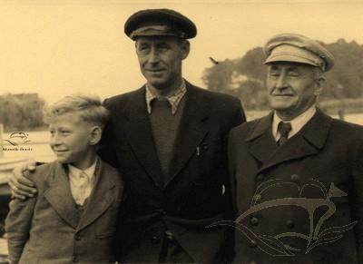 Manfred Ernst, Theodor Ernst und Oswald (von links)